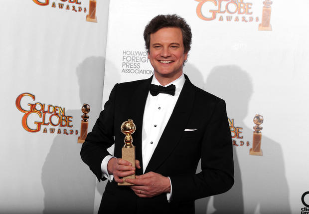 Colin Firth at the Golden Globe Awards.
