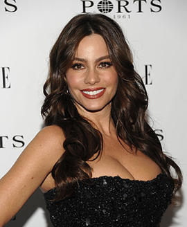 Actress Sofia Vergara arrives at the ELLE Women in Television dinner in West Hollywood, Calif. on Thursday, Jan. 27, 2011. (AP Photo/Dan Steinberg)