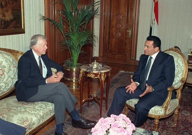 Jimmy Carter and Hosni Mubarak