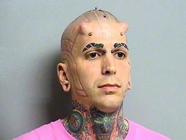 Weirdest Mug Shots: From lizard man to mohawk girl