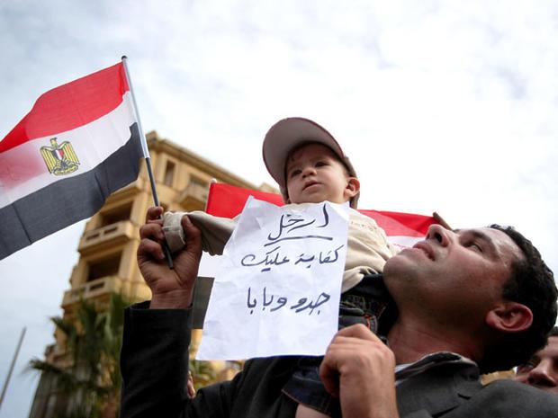 Cairo protesters Feb. 4, 2011