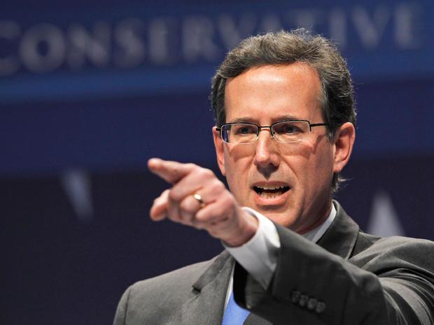 Former Pennsylvania Sen. Rick Santorum addresses the Conservative Political Action Conference