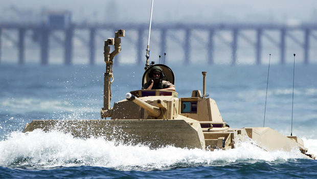 A prototype of a Marine Expeditionary Fighting Vehicle