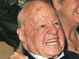 Actor Mickey Rooney Granted Restraining Order Against Stepson Michael Thomas Aber
