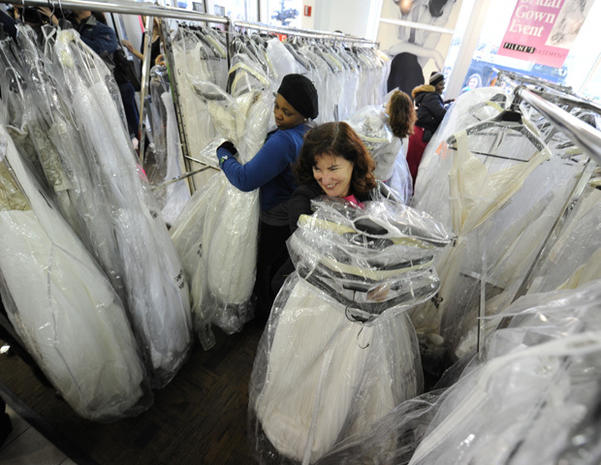 """Running of the Brides"" at Filene's Basement"