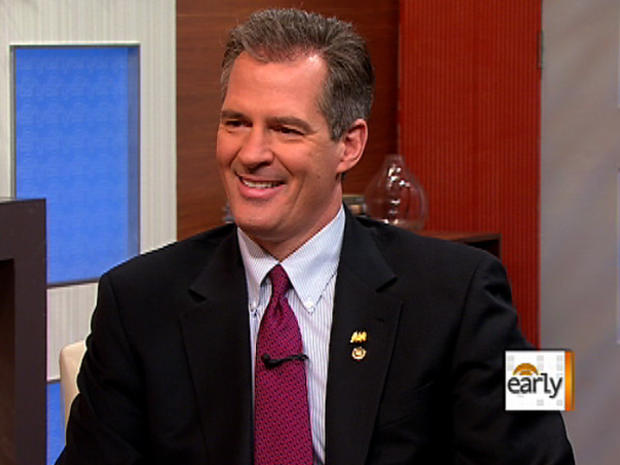 Mass. Sen. Scott Brown on The Early Show on Feb. 21, 2011
