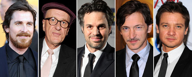 Best Supporting Actor nominees Christian Bale, Geoffrey Rush, Mark Ruffalo, John Hawkes and Jeremy Renner.