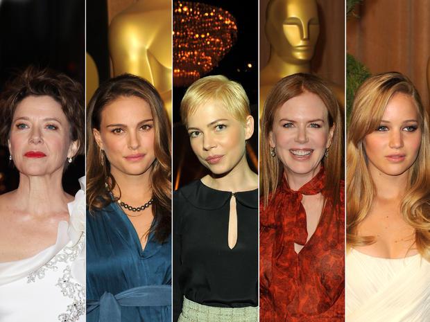 Annette Bening, Natalie Portman, Michelle Williams, Nicole Kidman and Jennifer Lawrence.