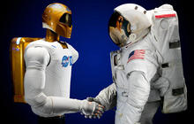Humanoid robot headed to space