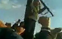 Saif Qaddafi seen rallying supporters