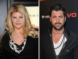 Actress Kirstie Alley and Maksim Chmerkovskiy