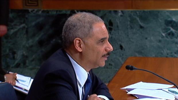 Attorney General Eric Holder speaking.