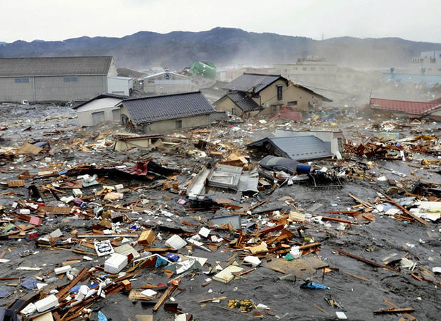 Quake, tsunami slam Japan