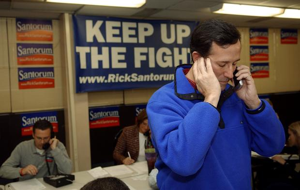 Rick Santorum on the campaign trail