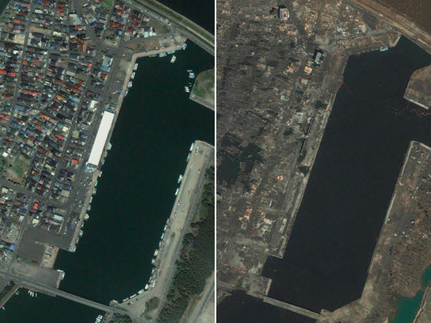 Japan earthquake: before and after