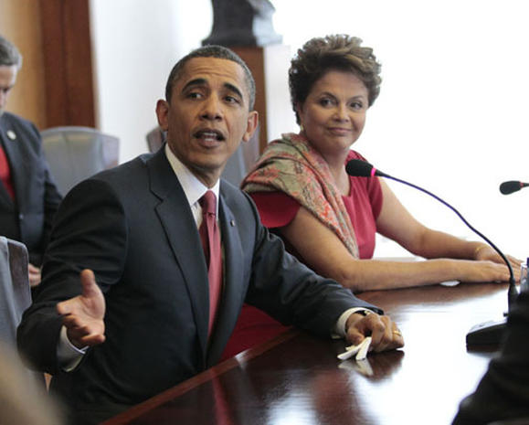 Obamas in South America