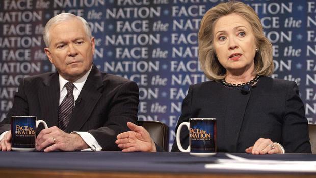Robert Gates and Hillary Clinton
