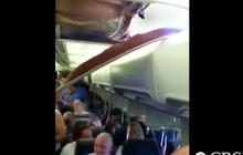 Amateur video: Ceiling hole in Southwest plane