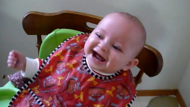 Adorable: Baby boy lau...