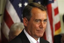 House Speaker John Boehner announcing a deal had been reached to avert a government shutdown, April 8, 2011.