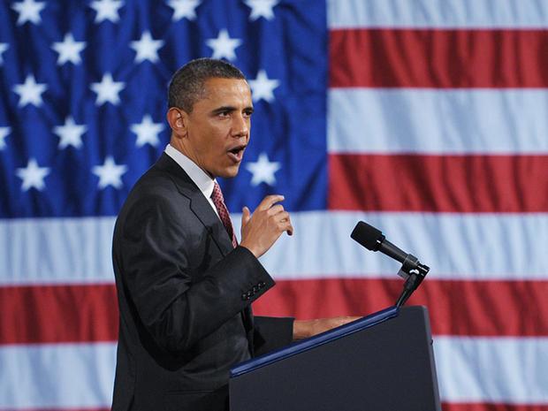 President Obama speaks at a DNC fundraiser at Chicago's Navy Pier