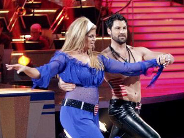 "Kirstie Alley and Maksim Chmerkovskiy perform on ""Dancing with the Stars,"" April 18, 2011."