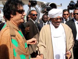 Qaddafi and Sudan's Bashir
