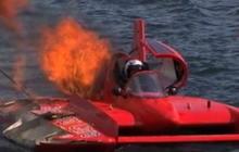 Hydroplane driver narrowly escapes death