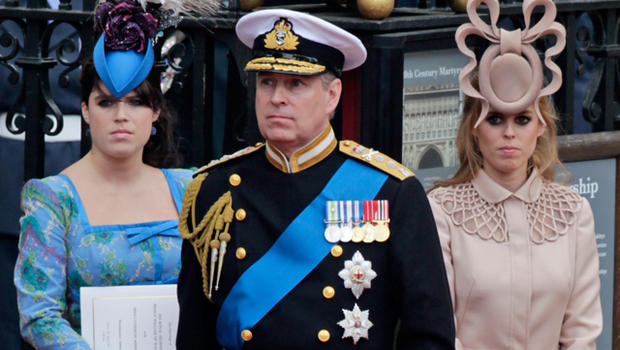 Prince Andrew S Daughters To Wedding Their Mom Is Snubbed Cbs News