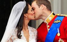The royal wedding kiss