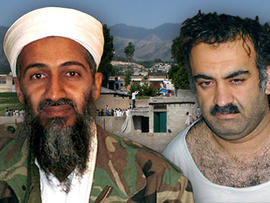 Osama Bin Laden and Khalid Sheikh Mohammed