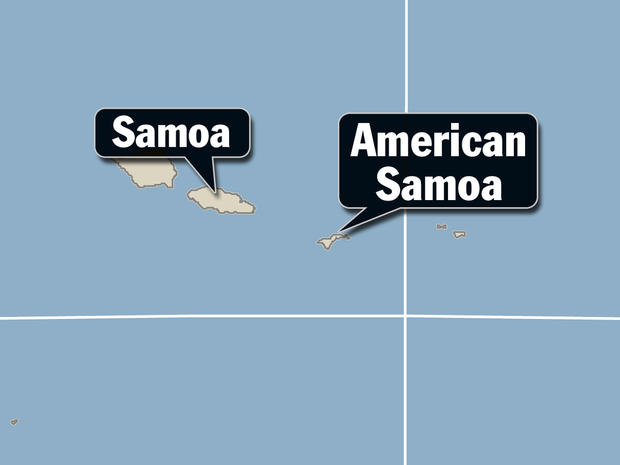 GENERIC map of Samoa, American Samoa