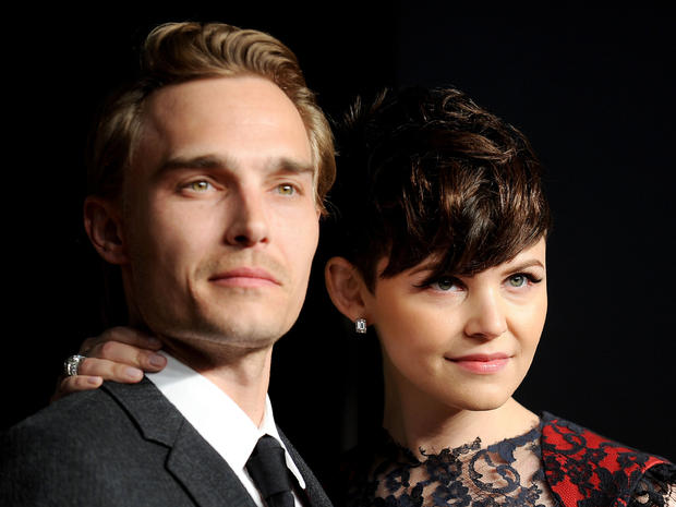 Actor Joey Kern and actress Ginnifer Goodwin arrive at the Vanity Fair Oscar party on Feb. 27, 2011, in West Hollywood, Calif.