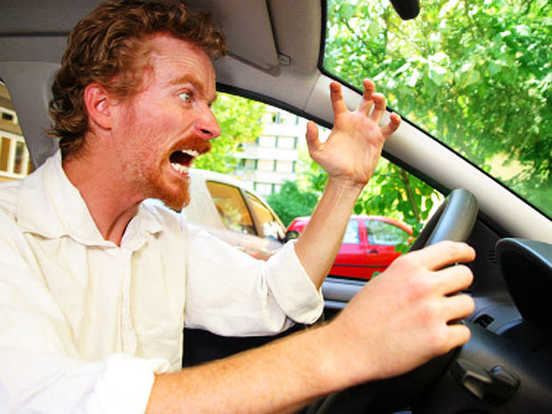 road rage, angry, enraged, furious, driver, redhead, car, driving, stock, 4x3