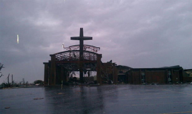 Joplin twister decimation from the ground