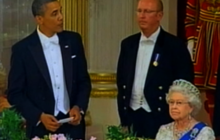 Awkward moment in Obama's toast to the Queen