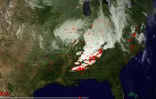 Satellite shows April tornado activity