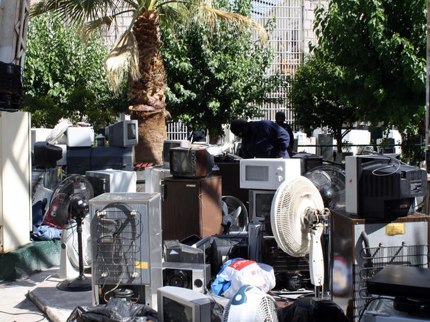 Air conditioners were among the items seized inside a prison in Mexico.