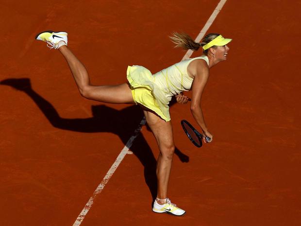 Maria Sharapova at the French Open