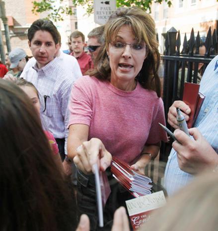 Sarah Palin on the road