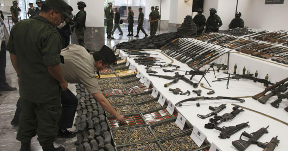 Soldiers Seize Arms Belonging To Mexican Drug Cartel Cbs