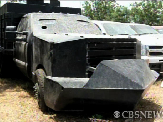 Mexico's Defense Department, SEDENA released this image of a makeshift truck after it was seized June 4, 2011.