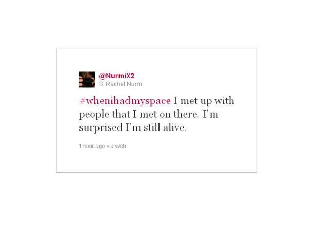 "20 funny ""when I had Myspace"" tweets"