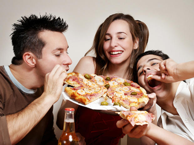 TRUE OR FALSE: Eating beforehand lets you drink more without becoming drunk