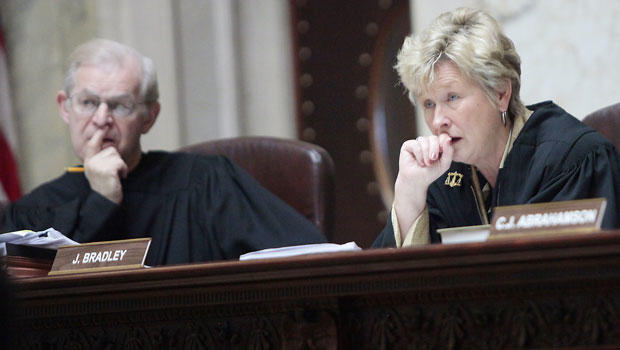 Wisconsin judge Ann Walsh Bradley says Justice David Prosser choked her