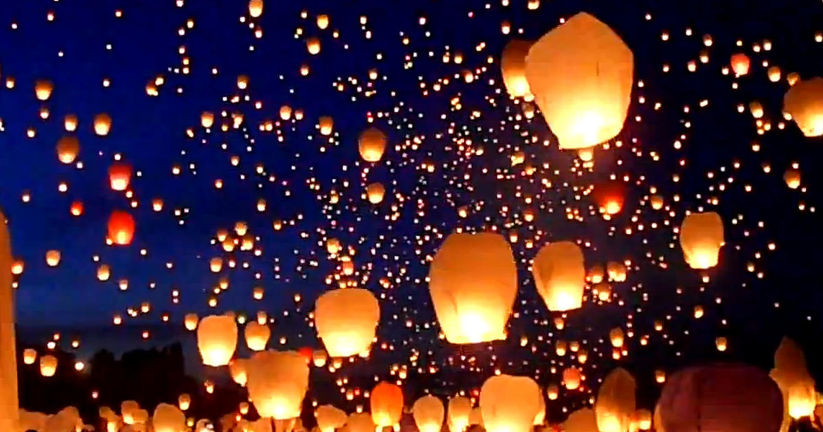 Thousands Of Lanterns Fill The Night Sky In Poland Cbs News