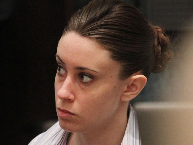 Casey Anthony sits at the defense table  before the start of her murder trial at the Orange Co. Courthouse in Orlando on June 24, 2011.