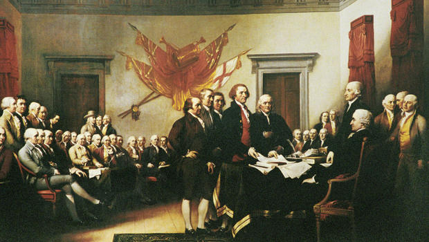"John Trumbull's painting, ""Declaration of Independence."""
