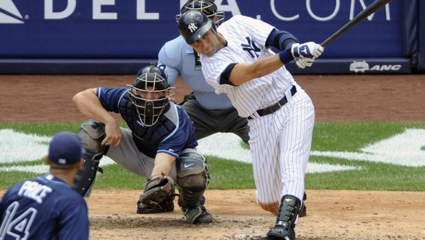 Derek Jeter homers for...