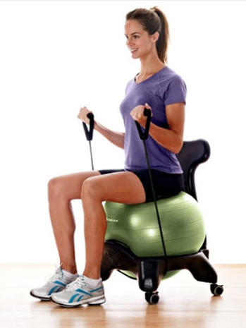 gaiam balance ball chair 10 hightech fat burners for fitness geeks pictures cbs news